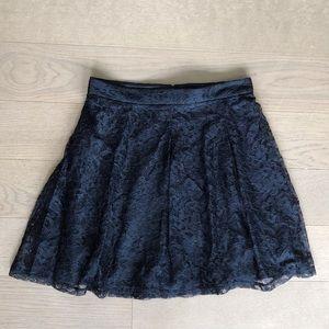 Express Black Lace A-Line Skirt